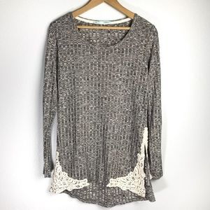 Maurices Grey Long Sleeve Top